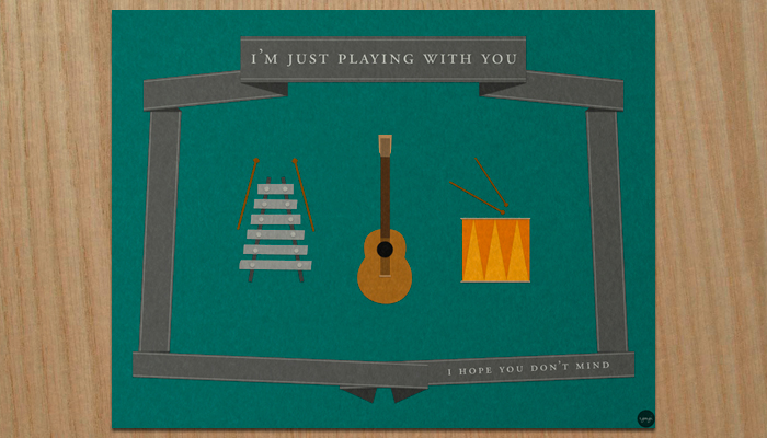 i'm just playing with you poster