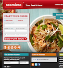 Thumbnail for Screenshot of Seamless - Your food is here website